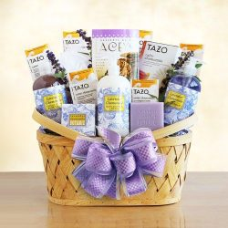 Deluxe Lavender Spa Gift Basket for Women