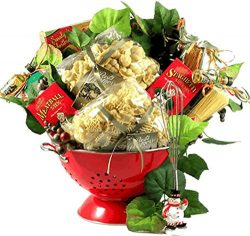 A Taste Of Italy, Italian Gift Basket with Artisan Pastas and Authentic Italian Sauce Mix In Del ...
