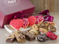 Dulcet Gift Baskets Valentine Day I Love you Gift Basket, Fancy Holiday Gift | Grand Gift Box wi ...