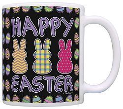 Easter Gifts for Adults Happy Easter Bunnies Cute Easter Basket Gift Coffee Mug Tea Cup Easter Egg