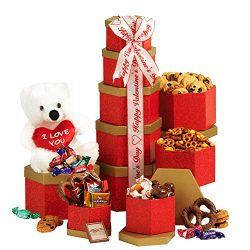 Valentines Day Gift for Her or Him with Chocolate & Teddy Bear