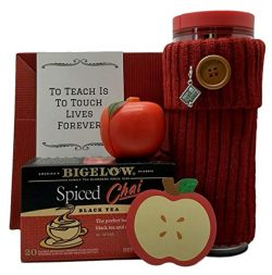 Gift Basket For Teacher Thank You Starbucks Coffee Mug Bigelow Chai Tea 5 Piece Bundle