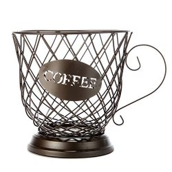 ARAD Coffee Cup Pod Storage Basket, Lattice Wire Basket, Kitchen and Home Decoration