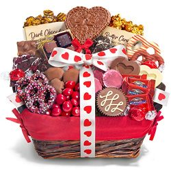 Valentines Day Chocolate Bliss Assortment Gift Basket