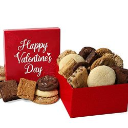 Valentines Day Baked Goods Gift Box of Cookies & Brownies – Valentine's Chocolat ...