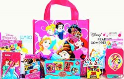Disney Princess Coloring & Activity Gift Set with Reusable Princess Tote Bag, Puzzle, Educat ...