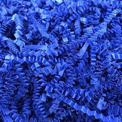 Black Cat Avenue 2 LB Royal Blue Crinkle Cut Paper Shred Filler for Gift Wrap and Basket Filler