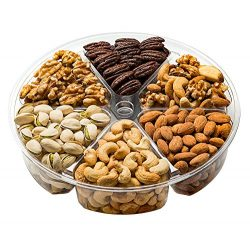 Freshly Roasted 6 Mixed Nuts Gift Tray | Healthy & Gourmet Snacks, Almonds, Pistachios, Cash ...
