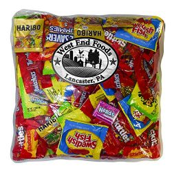 Candy Treats (3 pounds) of Individually Wrapped Candy: Life Savers, Skittles, Starburst, Swedish ...
