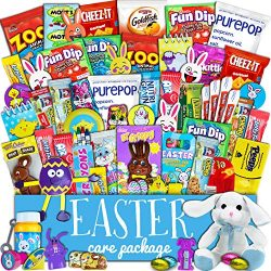 Easter Care Package (60ct) – Chocolates, Candy, Snacks, Toys – Assortment Variety Bu ...