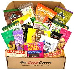 Premium GLUTEN FREE and DAIRY FREE Healthy Snacks Care Package (20 Ct): Bars, Chips, Crispy Frui ...