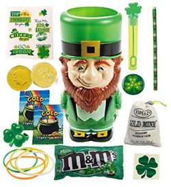 St Patrick's Day Gifts For Kids Set – Leprechaun Cup, Gold Coins, Chocolate Mint M&a ...