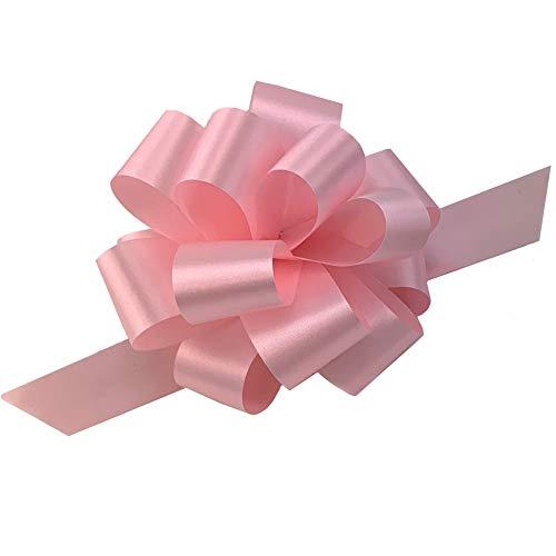 Rose Petal Pink Pull Bows – 5″ Wide, Set of 10, Wedding, Gift Bows, Easter Basket, P ...