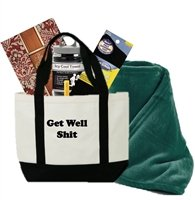 Just Don't Send Flowers Funny Get Well Gift Basket for Men