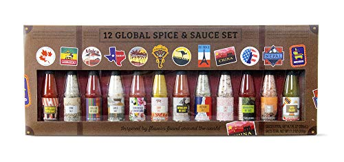 Savory Spice & Hot Sauce: Worldwide Edition | 12 Unique Salts and Hot Sauces for use on Pizz ...