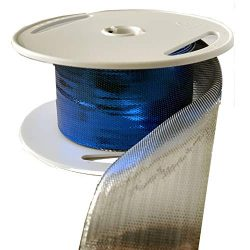 Royal Blue Silver Wired Ribbon – 1 1/2″ x 10 Yards, Double Sided, Metallic Christmas ...