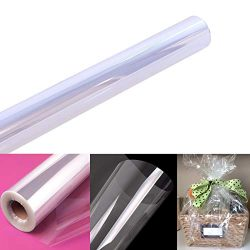 "Clear Cellophane Wrap Roll | 100' Ft. Long X 31.5"" in. Wide 