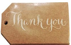 Elegant Blooms & Things Kraft Thank You Favor Tags, 24 ct, cardstock, gift bags, gift tags,  ...