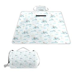 Lucasse Philippd Mountain Mermaid Gifts New Year Outdoor Waterproof Portable Tote Bag Picnic Bla ...