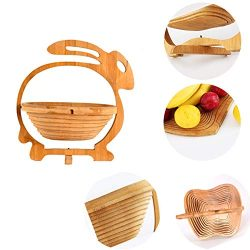 Creative Boutique Bamboo Fruit Basket for the New Year Christmas Gifts to Family and Friends