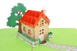 PopLife Family House 3D Pop Up Card for All Occasions – House Warming Gift, Realtor Gift,  ...