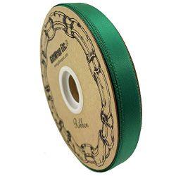 Emerald Green Satin Fabric Ribbon – 5/8″ x 100 Yards, Holiday Decor, Christmas Garla ...