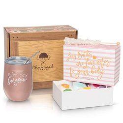 Happy Birthday Gift for Women: Stainless Steel Tumbler, Bath Bomb Set Birthday Gift Box for Her