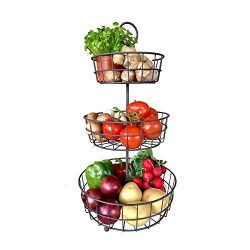 3 Tier Fruit Basket – French Country Wire Basket by Regal Trunk & Co. | Three Tier Fru ...