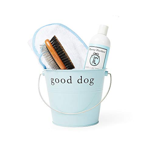 Harry Barker Dog Spa Day Gift Set: Includes 100% Cotton Terry Cloth Robe, Bamboo Brush, Shea But ...