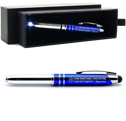 Nurse Gift Pen with Flashlight, Stylus, and Writing Tip – Engraved with Inspirational Quot ...