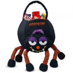 Lillian Vernon Spider Personalized Halloween Treat Bag – Large Trick or Treat Tote & Candy B ...
