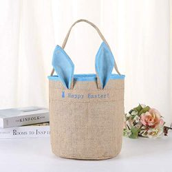 CapsA Easter Rabbit Basket Bunny Ears Bags Personalized Eggs Baskets Bags for Kids Carrying Gift ...