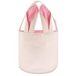 TONOS Easter Bag Bunny Bag Dual Layer With Bunny Design Easter Egg Hunt Bag Carrying Eggs Gifts  ...