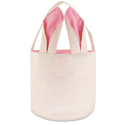 TONOS Easter Bag Bunny Bag Dual Layer With Bunny Design Easter Egg Hunt Bag Carrying Eggs Gifts  ...