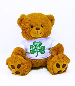 St Patrick's Day Limited Edition Plush Toys (Happy Tan Bear)