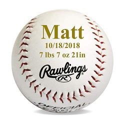 Personalized New Baby Gift for Boys – Baseball Sports Nusery Décor and Announcement Gift I ...