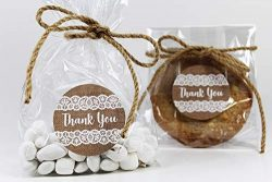 "Burlap & Lace-Themed Cellophane Treat Party Favor Bags with""Thank You"" Stickers  ..."