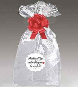 Thinking of You Extra Large Super Jumbo Clear Cello/cellophane Bags Gift Basket Packaging Bags C ...