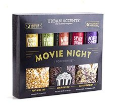 Urban Accents Movie Night Popcorn Kernels and Popcorn Flavors Variety Pack – Gourmet Popcorn Sea ...
