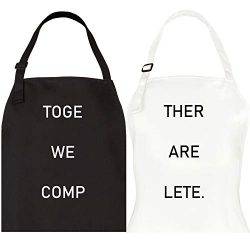 Let the Fun Begin Together Complete Aprons Set, His Hers Couple Gifts for Engagement Wedding, An ...