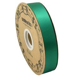 Emerald Green Satin Fabric Ribbon – 1″ x 100 Yards, Holiday Decor, Easter, Christmas ...