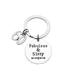 Infinity Collection 60th Birthday Keychain, 60th Birthday Gifts for Men & Women, Fabulous an ...