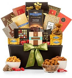 GiftTree Get Well Grand Reception Gift Basket | Ghirardelli Chocolate, Classic Candies, Tropical ...