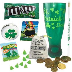 St Patrick's Day Gift Set For Kids or Irish Lover's – 24oz Pilsner Cup, Gold C ...