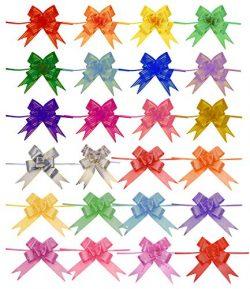 Penta Angel 240Pcs 24 Colors String Bows Basket Gift Pull Bows Gift Knot Ribbon Present Wrapping ...