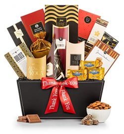 GiftTree Broadway Gourmet Thank You Gift Basket | Premium Chocolate, Gourmet Cookies, Mixed Nuts ...