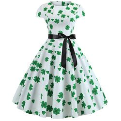 Euone Dress Clearance Sales, St. Patrick's Day Women's Shamrock Evening Print Party  ...