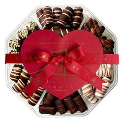 Dark Chocolate Valentine's Gift Box – Handcrafted Chocolate Truffles, Valentines Day ...