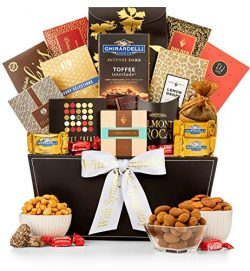 GiftTree Grand Reception Sympathy Gift Basket | Ghirardelli Chocolate, Classic Candies, Tropical ...