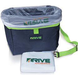 The Drive Bin Car Garbage Can, Green – Best Auto Trash Bag for Litter, Free Waste Basket L ...
